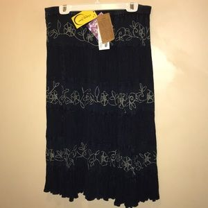 Victoria Susan Indigo Hand Dye Wearable Art Skirt